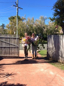 Flowers arriving for the lonley bouquets